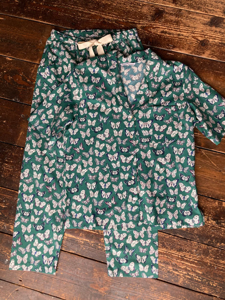 butterfly print organic cotton pyjamas & shirt