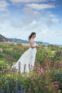 Long Hemp Silk Wedding Dress