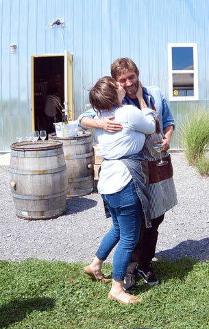 Couple Attending Fall Lunch and Wine Tasting at Trail Estate Winery