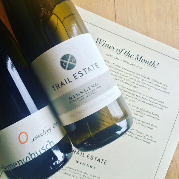 Wines of the Month - Riseling - Trail Estate Winery