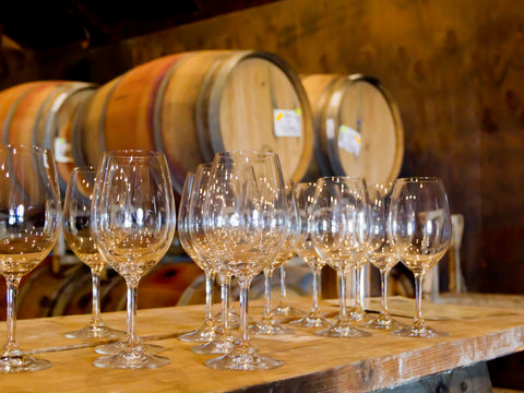 Trail Estate Winery - Multiple Wine Glasses Filled for Wine Tasting Event