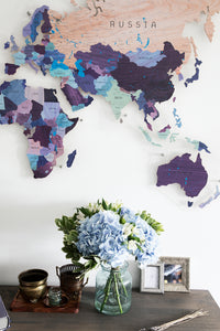 COLORFUL WORLD MAP (PURPLE COLOR 11)