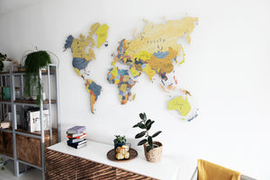 COLORFUL WORLD MAP (YELLOW-PURPLE COLOR 6)
