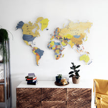 Load image into Gallery viewer, COLORFUL WORLD MAP (YELLOW-PURPLE COLOR 6)