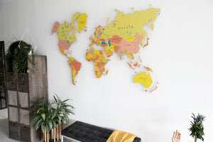 COLORFUL WORLD MAP (YELLOW COLOR 3)