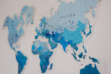 Load image into Gallery viewer, COLORFUL WORLD MAP (BLUE COLOR 4)