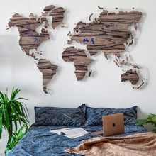 Load image into Gallery viewer, WOODEN WORLD MAP (tiger tree)