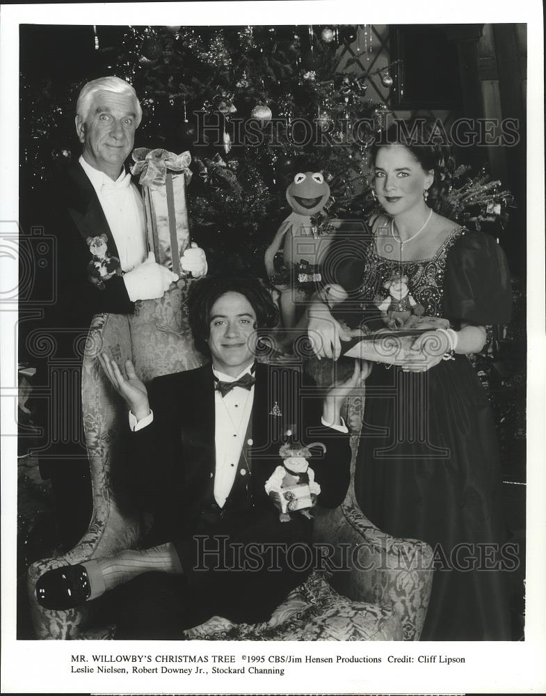 1995 Press Photo Stockard Channing and cast of Mr. Willowby\'s ...