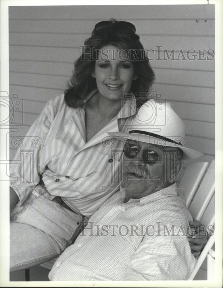 1986 Press Photo Wilford Brimley And Deidre Hall Star On Our House