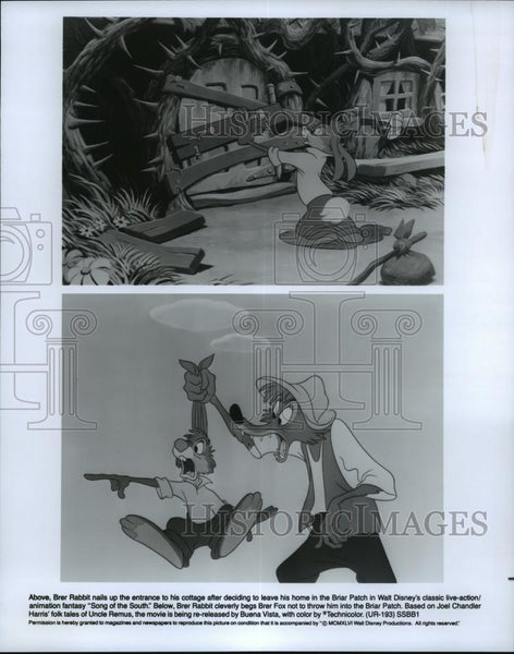 1966 Press Photo Scenes from Walt Disney's animated film, Song of the South. - Historic Images