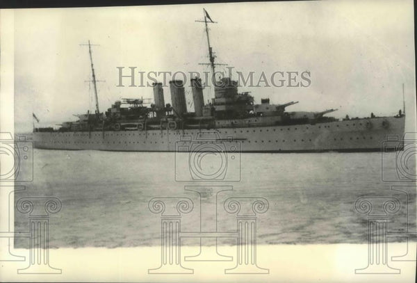 1935 Press Photo HMS Devonshire British Fleet sails in the Mediterranean Region - Historic Images