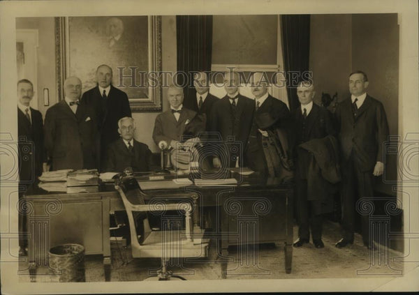 1923 Press Photo National Republican Club off NY meeting in NYC  - neny25545 - Historic Images