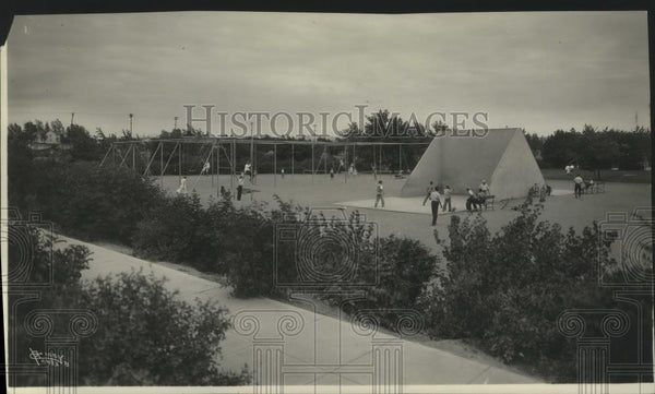 1933 Press Photo Mission Park Playfield - spa79298 - Historic Images