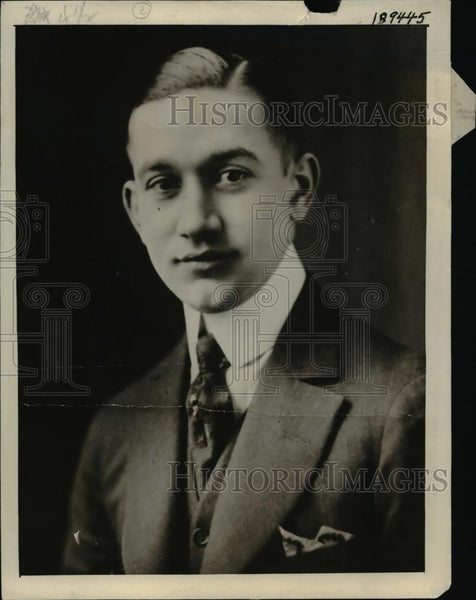 1922 Press Photo Herbert Scheer, Husband of annabelle Scheer of Chicago - Historic Images