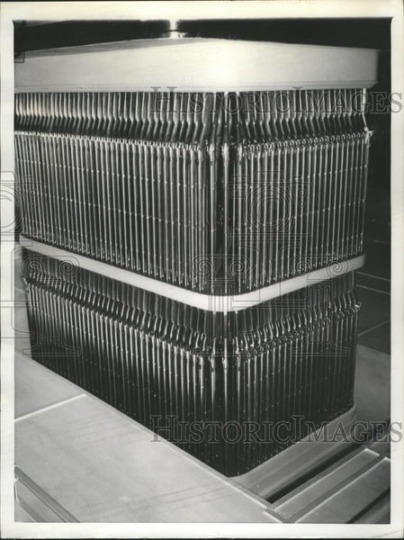 1940 Press Photo 1862 Model Percussion Cap and Nuzzle stacked as a Church Organ - Historic Images