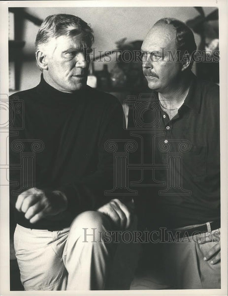 1989 Press Photo John Ashton and Mitchell Ryan star in Hardball, on NBC. - Historic Images