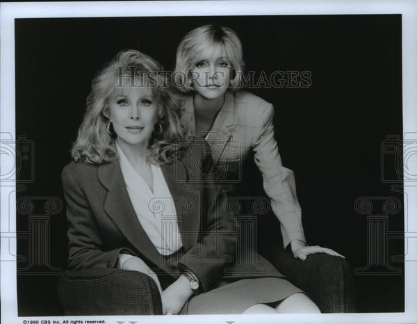 1990 Press Photo Barbara Eden and Heather Locklear in Her Wicked Ways. - Historic Images