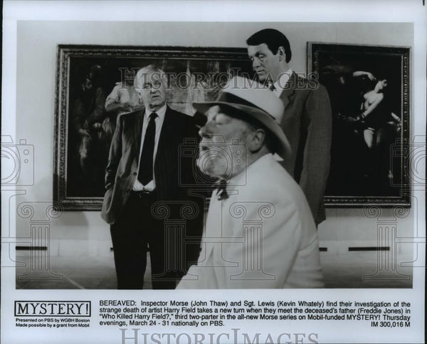 1994 Press Photo John Thaw and Kevin Whately star in Inspector Morse, on PBS. - Historic Images