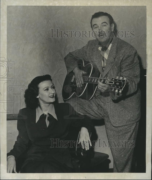 1952 Press Photo Preston Foster and his wife Sheila Darcy - spp29461 - Historic Images