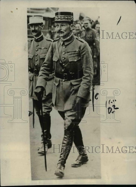 1923 Press Photo General Weygand Author of Military Sanctions of France - Historic Images
