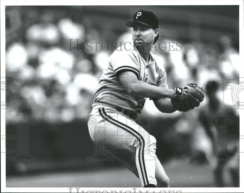 Press Photo Zane Smith Pittsburgh Pirates - RRQ22959 - Historic Images