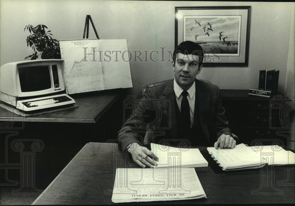 1983 Press Photo Al G. Sterner, Wisconsin banker - mjc06852 - Historic Images