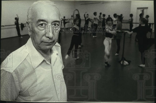 1980 Press Photo Ben Stevenson, director of Houston Ballet at rehearsal - Historic Images