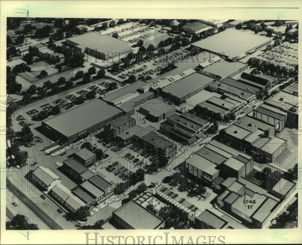 1985 Press Photo Aerial view, artist drawing, Center Point Mall, Stevens Point - Historic Images