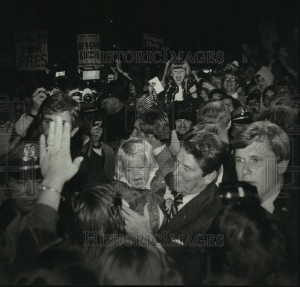 1980 Press Photo Ronald Reagan Campaigning in Cudahy Wisconsin - mjc06973 - Historic Images