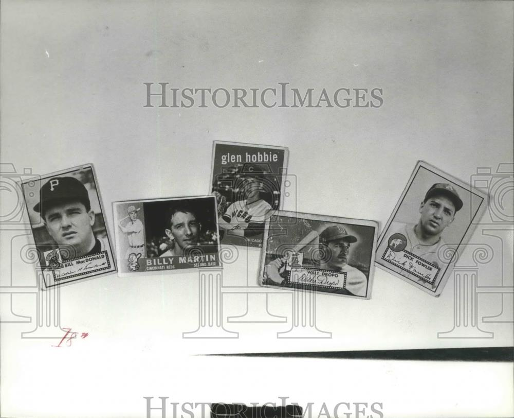 Press Photo These Five Baseball Cards Are The Memories Of America's Pasttime - Historic Images