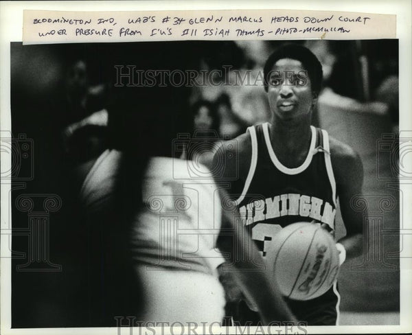 Press Photo University of Alabama Birmingham Basketball game with Bloomington - Historic Images