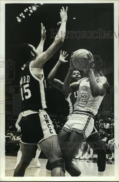 Press Photo University of Alabama Birmingham - Basketball Team in Game - Historic Images