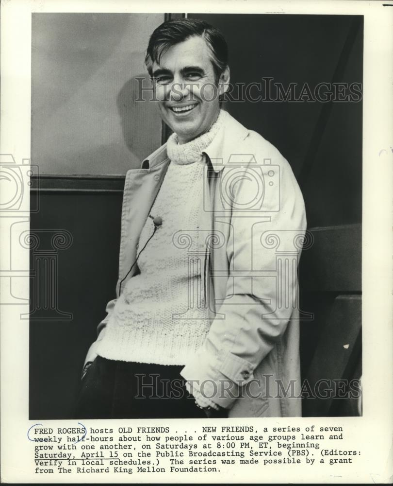 Fred Rogers Hosts The Series Old Friends New Friends On Pbs 1978 Vintage Press Photo Print Historic Images