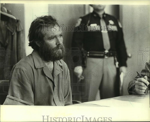 1982 Press Photo Donald G. Plaman in court in Waukesha, Wisconsin - mjc06680 - Historic Images