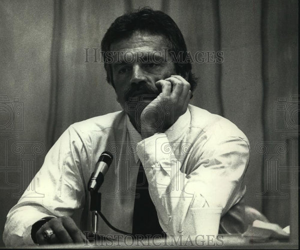 1990 Press Photo Former Milwaukee Brewer Gorman Thomas' Trial for Drunk Driving - Historic Images