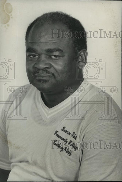 1977 Press Photo Eldridge O. Turner, coach at Lawson State, Alabama - abns06900 - Historic Images