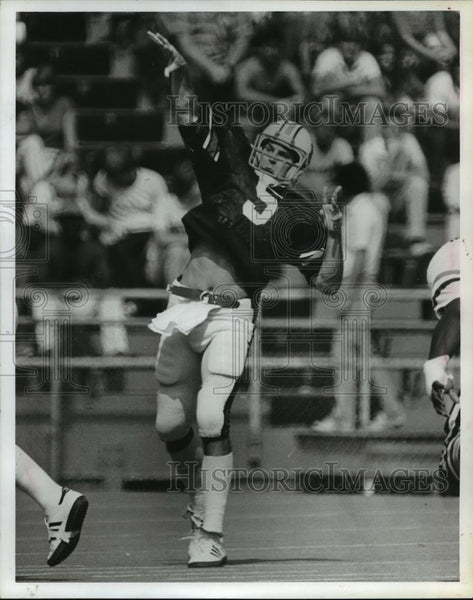 1981 Press Photo Joe Sullivan throwing touchdown pass, Alabama - abns06936 - Historic Images