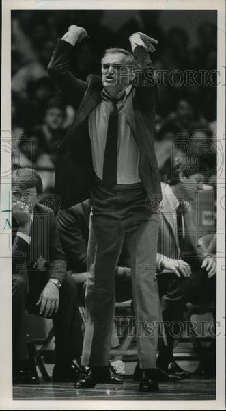 1986 Press Photo University of Alabama - Coach Wimp Sanderson, Basketball - Historic Images