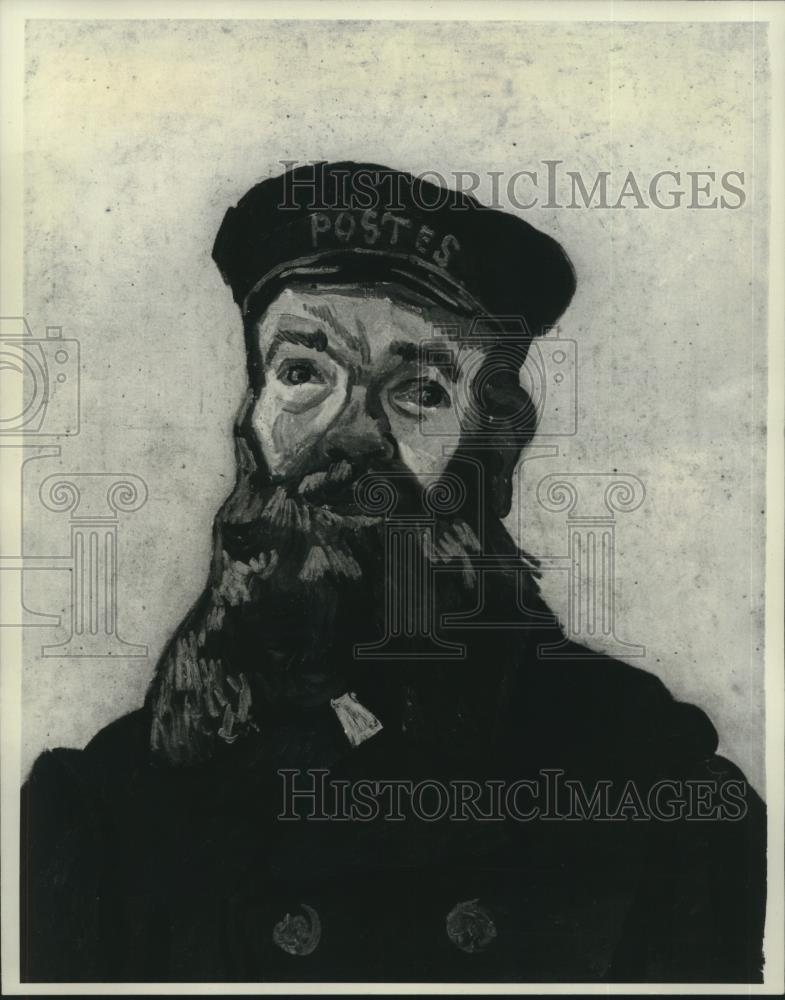 "1977 Press Photo Vincent Van Gogh's ""Head of the Postman Joseph Roulin"" painting - Historic Images"