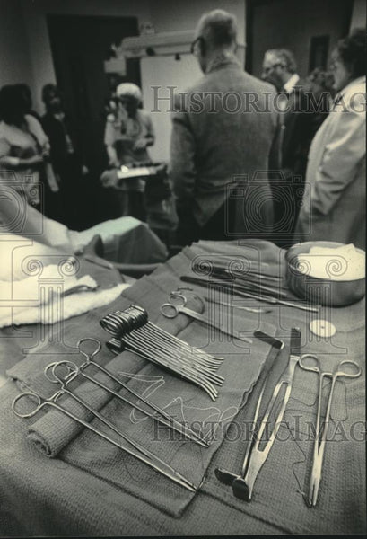 1984 Press Photo stainless steel surgical instruments - mjc20441 - Historic Images