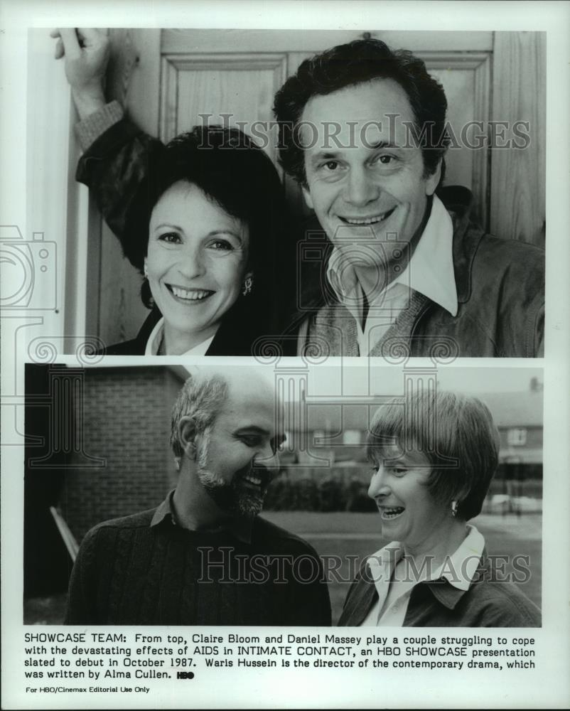 1987 Press Photo Claire Bloom and Daniel Massey (top) Waris Hussein Alma Cullen - Historic Images