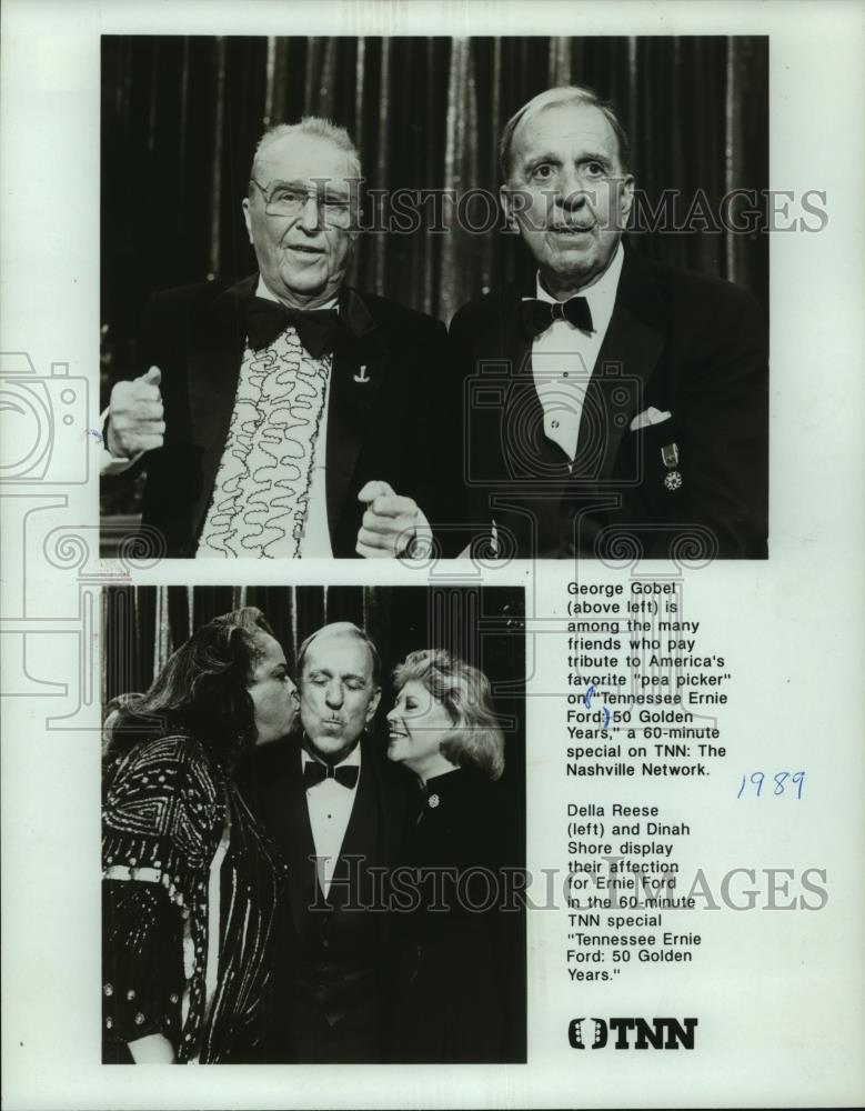 1989 Press Photo George Gobet And Friends On 'Tennessee Ernie Ford' Show - Historic Images