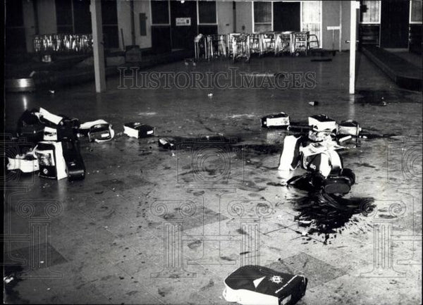 Press Photo Crime scene from Terrorist attack at Lydda Airport ,Tel Aviv - Historic Images