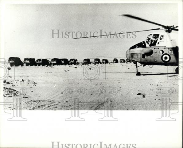 1967 Press Photo UAR Forces Move to Sinai & Take Up Positions - Historic Images