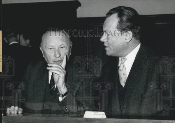 1936 Press Photo German Chancellor Dr. Adenauer And Berlin Mayor Willy Brandt - Historic Images