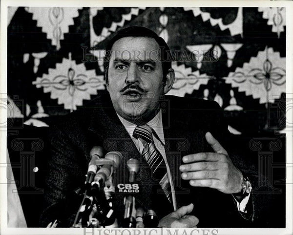 1978 Press Photo Roelof F. Botha, South African Foreign minister, UN plaza Hotel - Historic Images