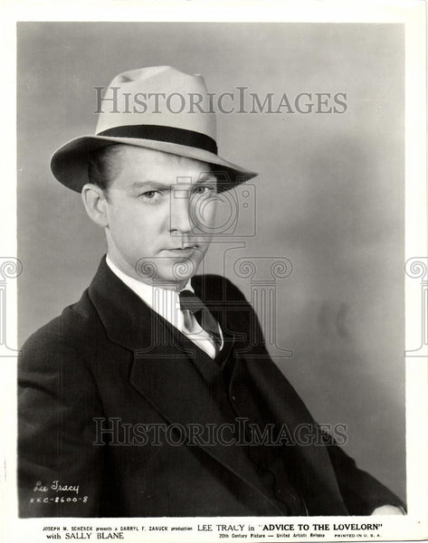 1933 Press Photo Lee Tracy - Historic Images