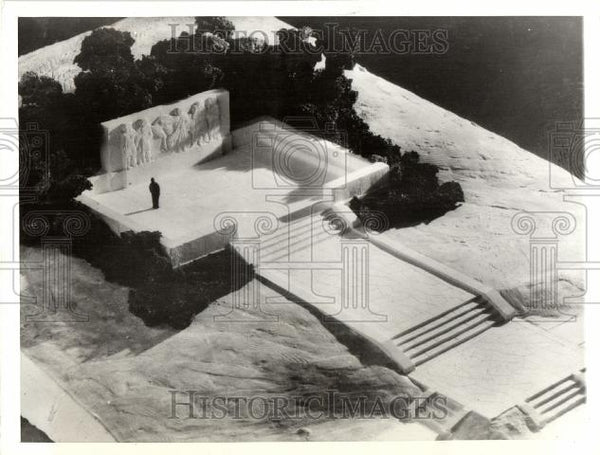 1932 Press Photo MODEL OF MEMORIAL HAROODSBURG MONUMENT - Historic Images