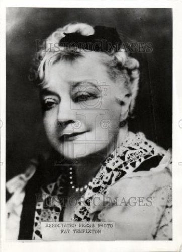1935 Press Photo Fay Templeton - Historic Images