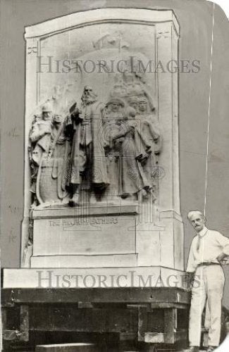 1931 Press Photo Pilgrim Memorial - Historic Images